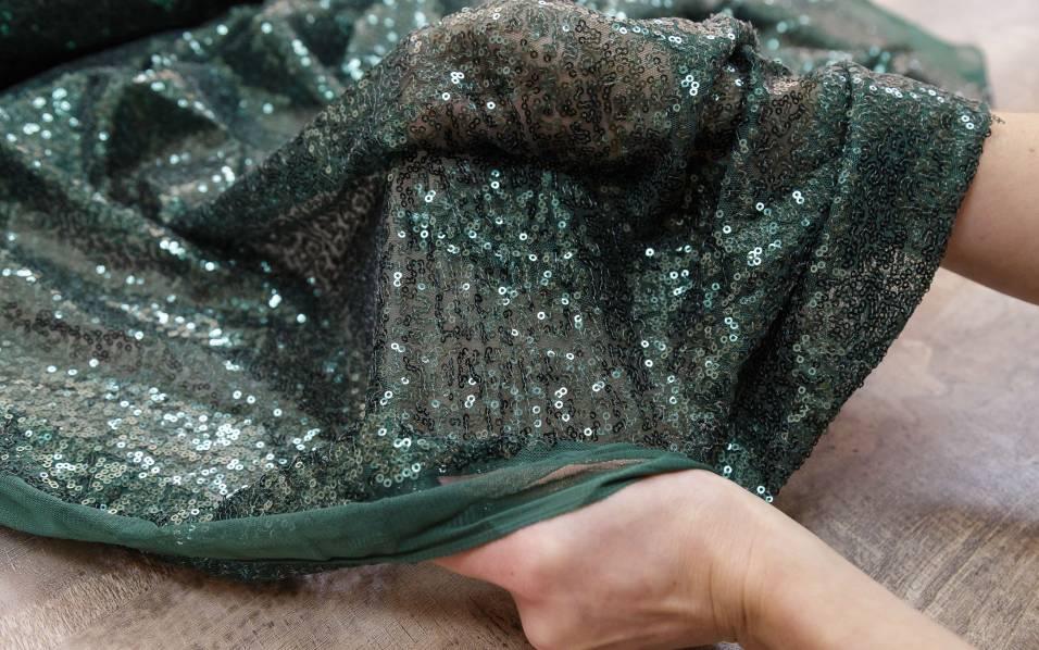 Пайеточная ткань № 2119 фото