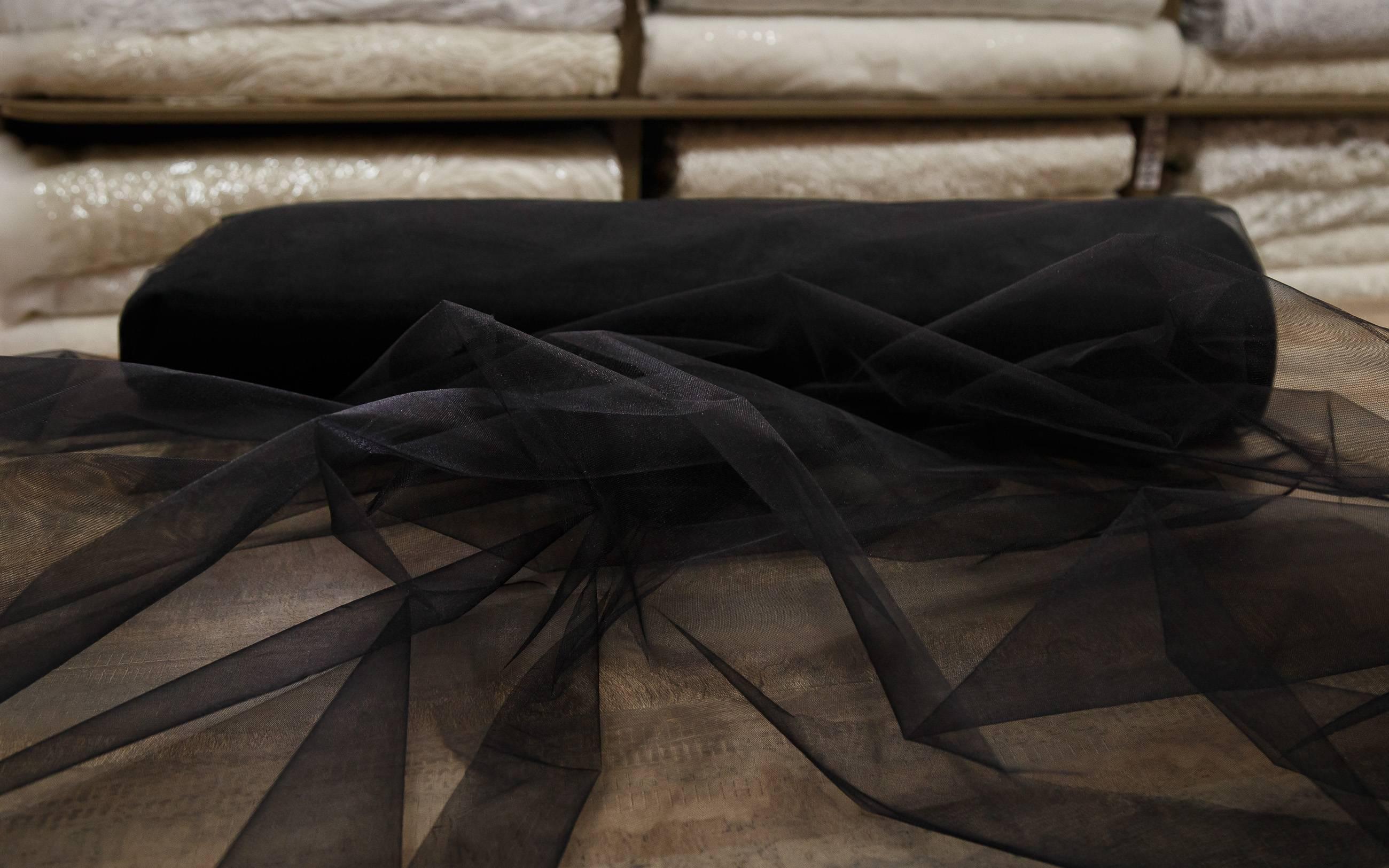 ткань фото блестящий черный