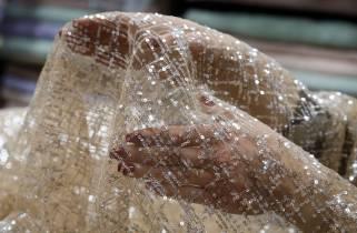 Пайеточная ткань № 1089 фото