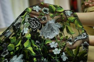 Сетка-цветы № 5106А фото