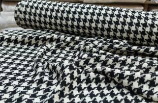 """Пальтово-костюмная ткань """"Гусиная лапка"""" двухсторонняя № 1810 фото"""
