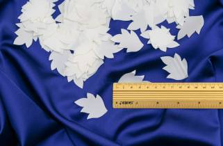 Выбивка листик атласный 4.5см х 3.5см № L-1  фото