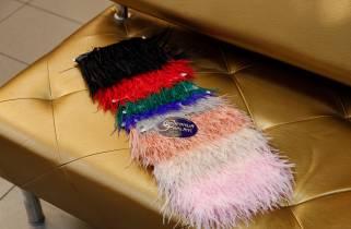 Перья страусиные на ленте № 888 фото
